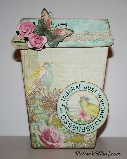 Just wanted to expresso my thanks - Melisa Waldorf - Coffee cup shaped card 2