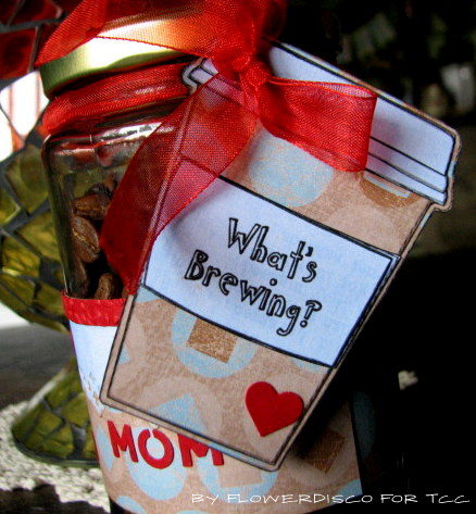 What's Brewing - Flowerdisco Agnes - Coffee cup shaped card 2
