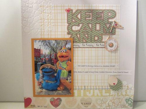 Keep Calm and BE HAPPY- Karyn Halter- Keep calm and word shaped card