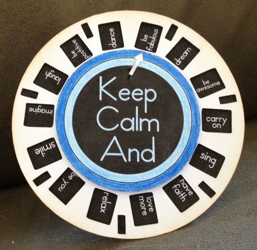 KEEP CALM AND - Barbara Burgess - View finder reel fun set