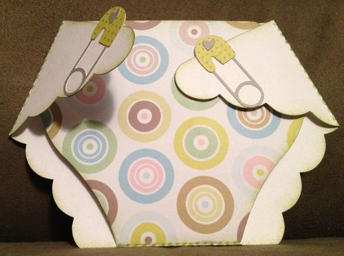 Baby diaper - Barbara Burgess - Diaper shaped card