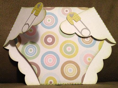 Baby diaper - Barbara Burgess - Diaper shaped card