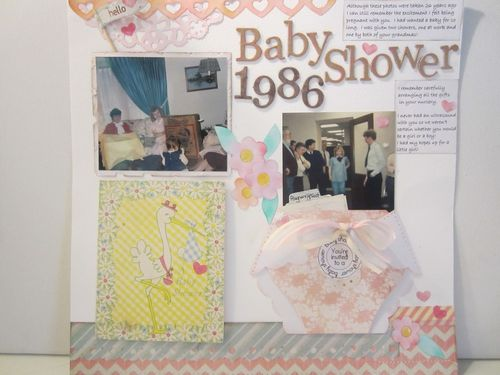 Baby shower- Karyn Halter - Diaper shaped card