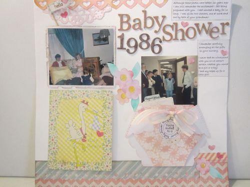 Baby shower- Karyn Halter - Diaper shaped card