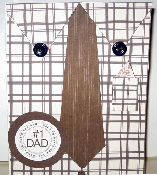 #1 Dad - Holly Hudspeth - Shirt and tie shaped card set