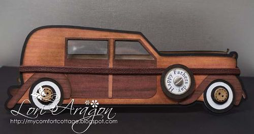 Happy father's day - Lori Aragon - Classic Car shaped card