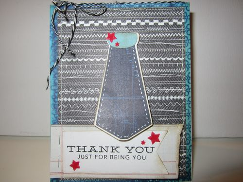 Thank you - Karyn Halter - Shirt and tie shaped card set