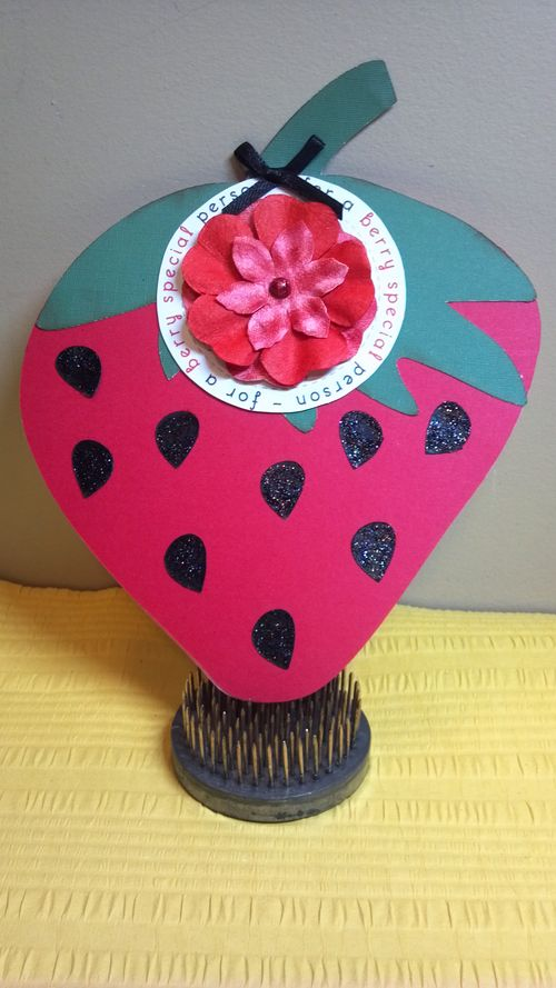 For a berry special person - Audrey Long - strawberry shaped card