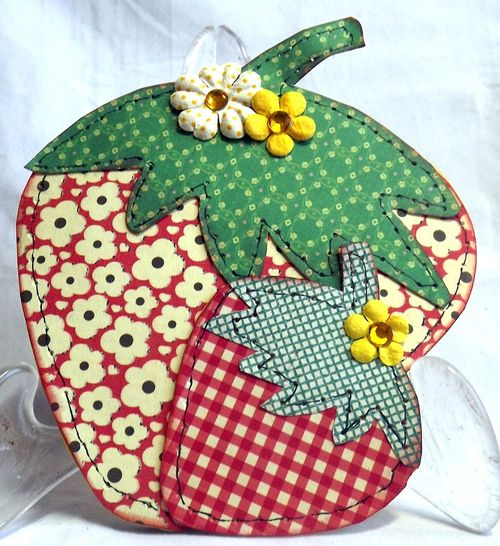 Strawberry Shaped Card - Mary Ann Guth