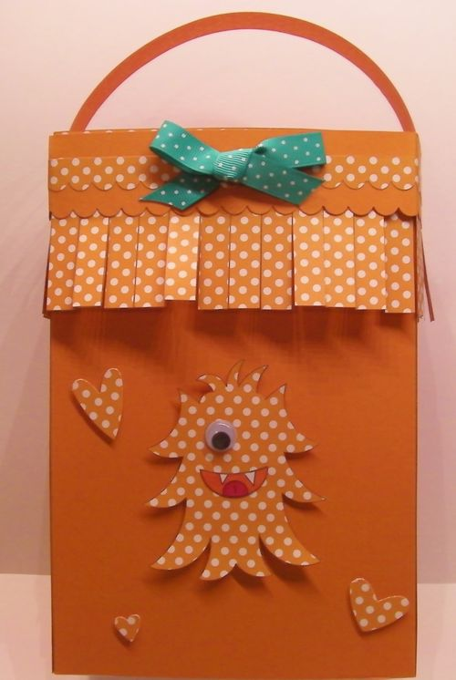 Large Gift Bag and All about monsters- Rhonda Zmikly