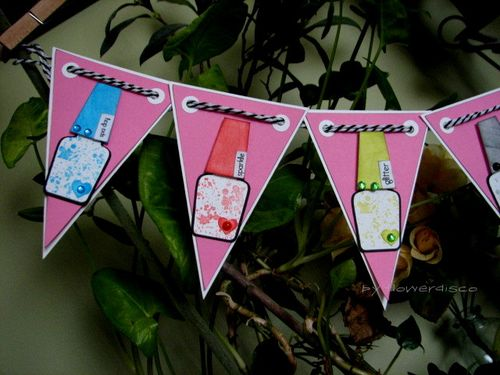 Nail Polish Banner - Flowerdisco Agnes - Nail polish shaped card