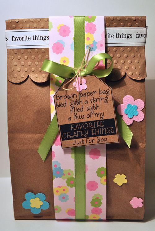 Paper bag favorite things