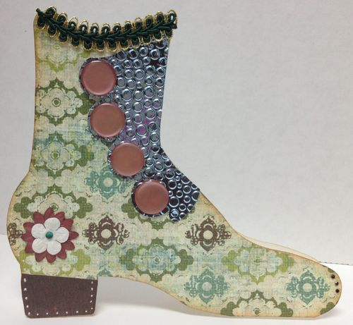 Barbara Burgess - Vintage boot shaped card