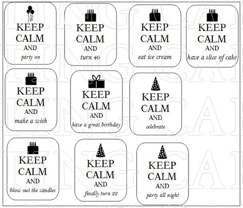 KEEP CALM BIRTHDAY 1