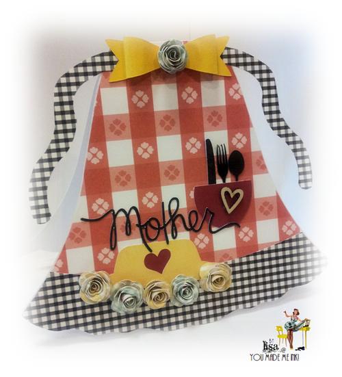 Mother - Lisa Minckler - Apron shaped card