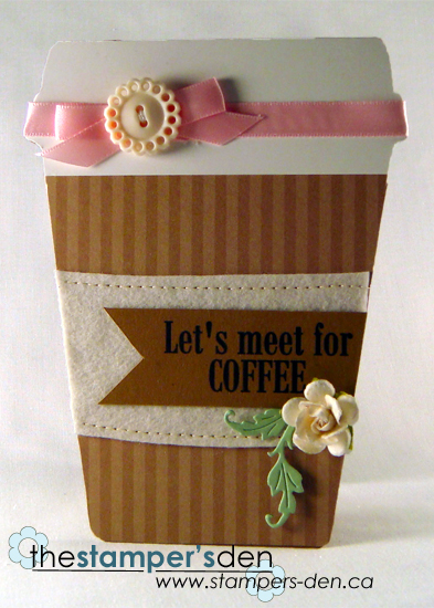 Let's meet for coffee - Karrie Snider - Coffee cup shaped card 2