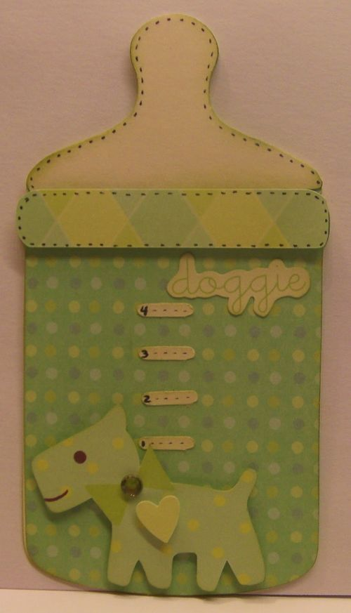 Doggie - Rhonda Zmikly - Baby bottle shaped card 2
