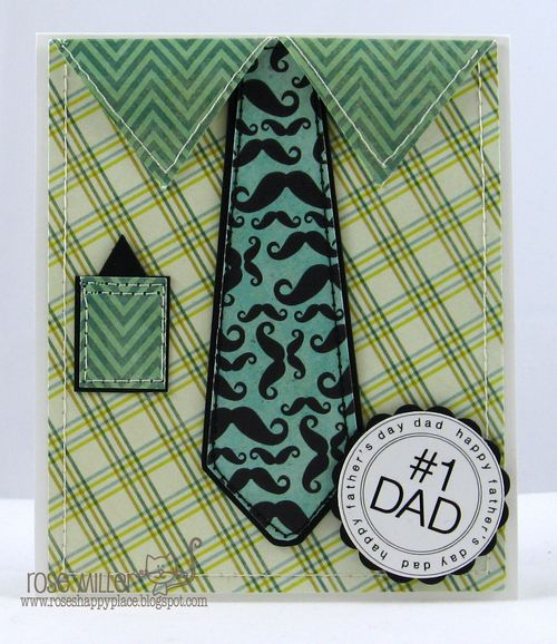 #1 Dad - Rose Miller - Shirt and tie shaped card set