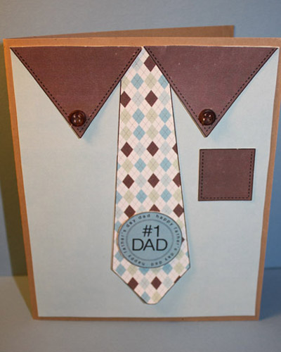 #1 Dad - Tanya Alley - Shirt and tie shaped card set