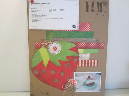 Strawberry Cake - Karyn Halter - Strawberry shaped card