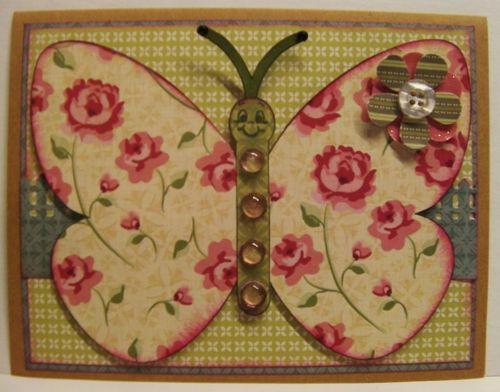Butterfly Shaped card - Rhonda Zmikly
