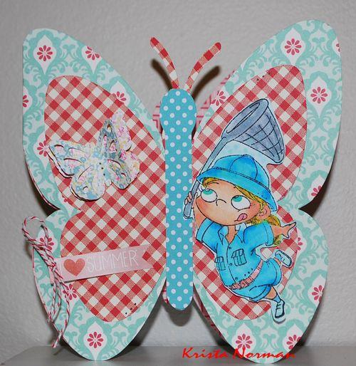 Summer - Krista Norman - butterfly shaped card