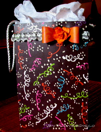 Large gift bag set - Flowerdisco Agnes