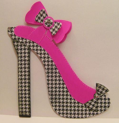 High Heel shoe shaped card - Rhonda Zmikly