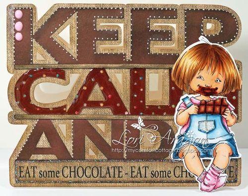 Keep Calm Lori Aragon - Keep Calm and word shaped card