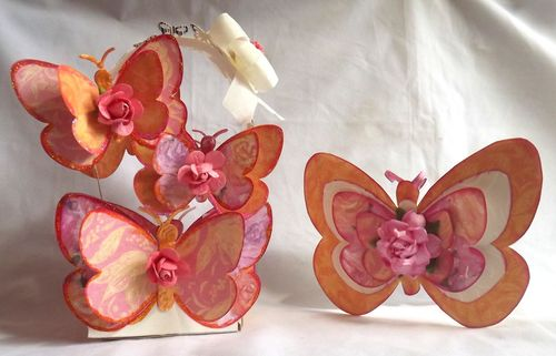 Butterfly Set - Mary Ann Guth - Butterfly treat box and butterfly shaped card