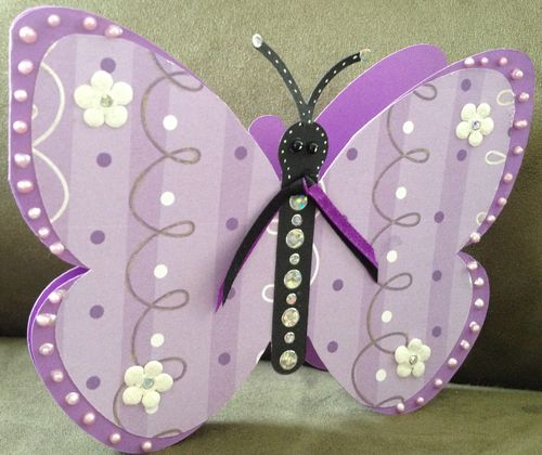 Butterfly Shaped Card - Barbara Burgess
