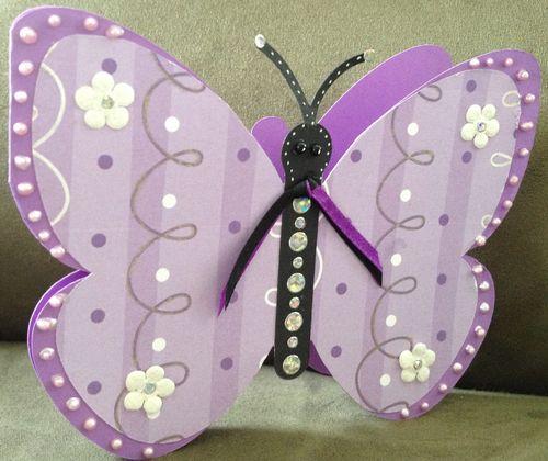 Butterfly Shaped Card - Barbara Burgess