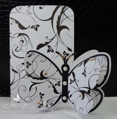 Butterfly Shaped Card - Lori Aragon