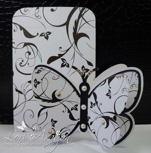 Butterfly Shaped Card - Lori Aragon