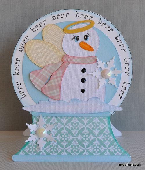 Brrr brrr - Leslie Foley - Snowglobe shaped card
