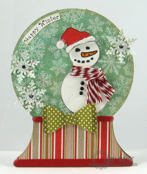 Happy Winter - Rose Miller - Snowglobe shaped card
