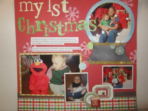 My 1st Christmas - Karyn Halter - Snowglobe shaped card