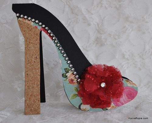 High Heel shoe shaped card - Leslie Foley