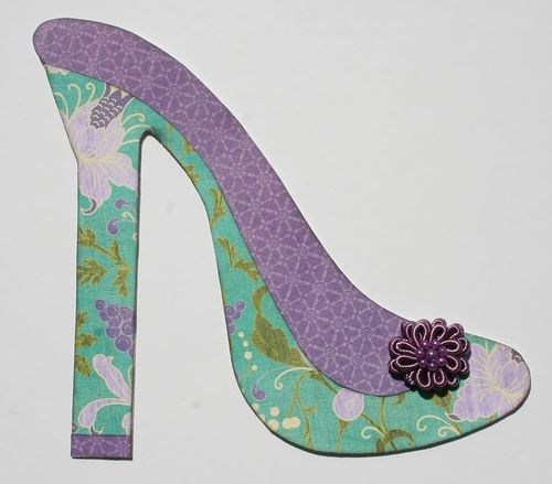 High Heel shoe shaped card - Melisa Waldorf