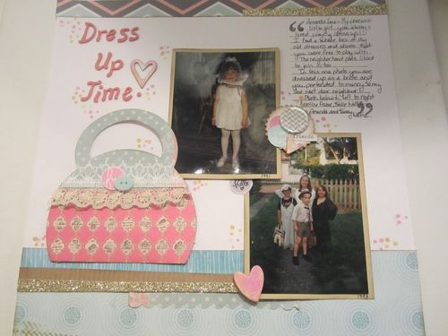 DRESS UP TIME - Kathryn Halter - Purse shaped card and invite set