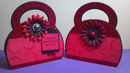 Something PURSEONALLY jut for you - Audrey Long - Purse shaped card and treat box