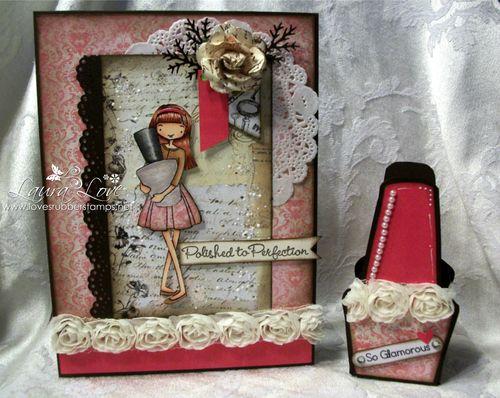 Nail polish box holder - Laura Love