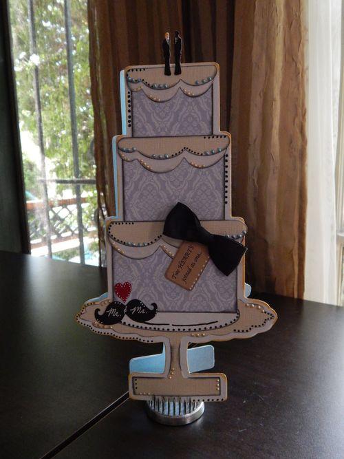 TALL CAKE SHAPED CARD - Sean Convert