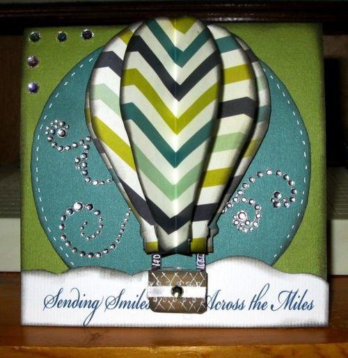 Hot air balloon shaped card - Cathryn Holzschuher