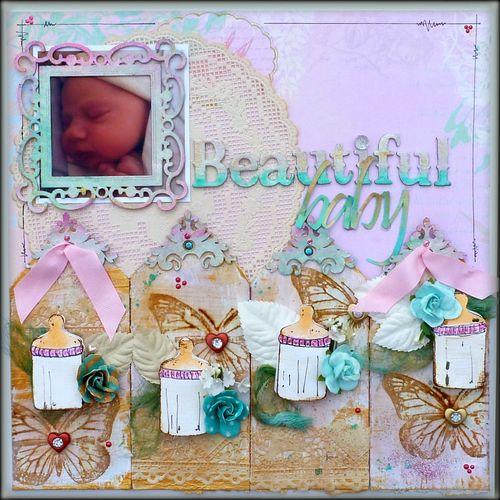 Beautiful day - Mitra Pratt - Baby bottle shaped card 2