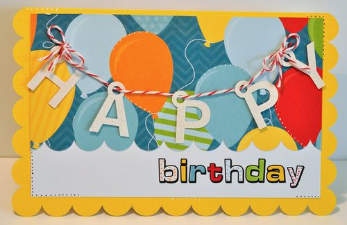 Charm birthday card