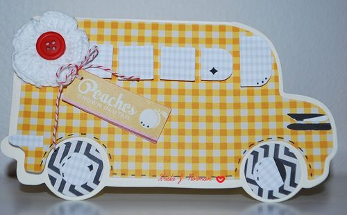 BUS SHAPED CARD - KRISTA NORMAN
