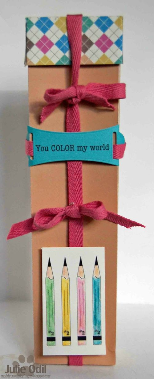 You COLOR my world - Julie Odil - Pencil box and School borders
