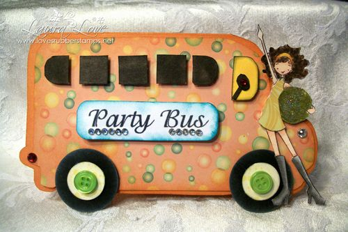 BUS SHAPED CARD -Laura Love