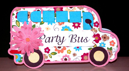 Party Bus - Holly Hudspeth - Bus shaped card